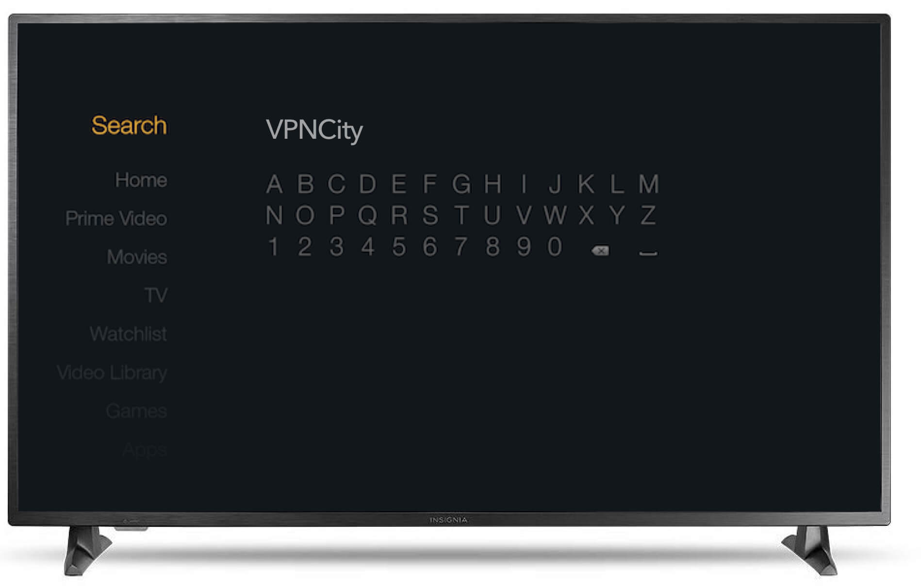 VPNCity Amazon Fire TV search
