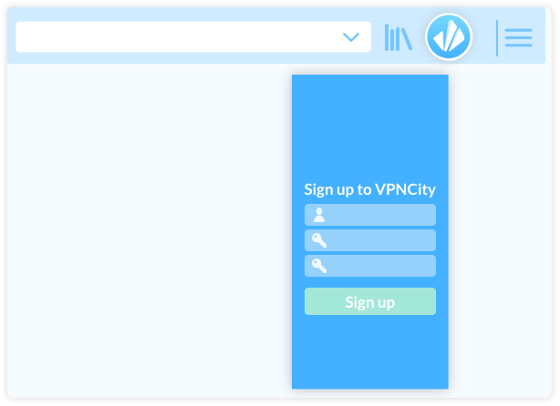 VPNCity desktop register image