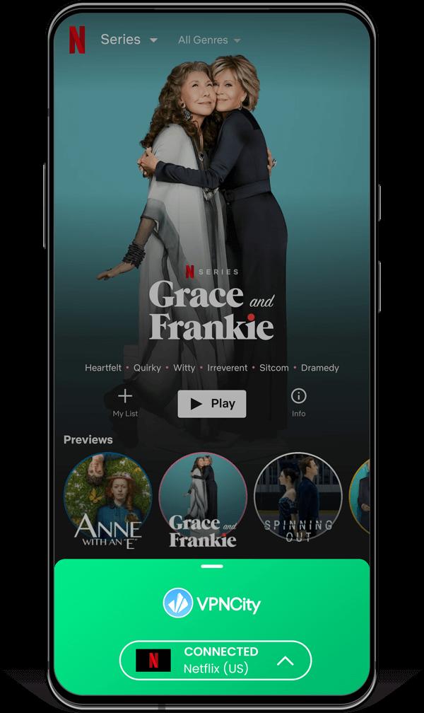 VPNCity Netflix device